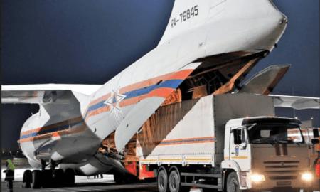 Pesawat Rusia Berisi Bantuan Medis dan Obat-obatan Tiba di China