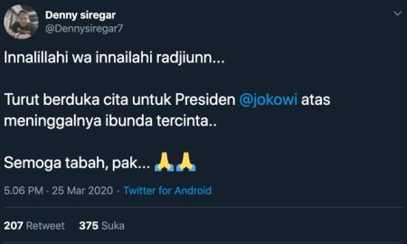 "Innalilillah, Ibunda Jokowi ""Sujiatmi Notomiharjo"" Meninggal Dunia"