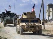 Konvoi Besar Militer AS Masuki Suriah dari Irak