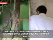Viral Video Blusukan Jokowi Bagi Sembako di Gang Kecil