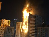 Video: Gedung Pencakar Langit Terbakar Hebat di UEA, Satu Tower Apartemen Hangus