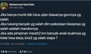 "Wahyu Sutono Jawab Analogi ""Sesat"" Said Didu Nyinyir Pidato Jokowi"