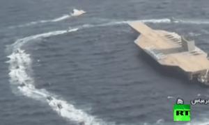 Video Iran Ledakkan Kapal Induk AS di Selat Hormuz