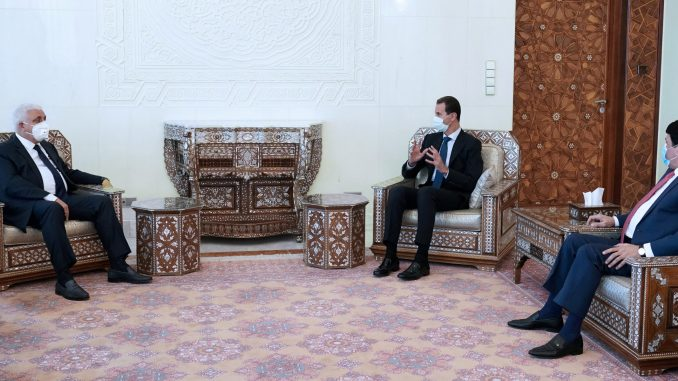 Kunjungi Suriah, Ketua Hashd Al-Shaabi Sampaikan Pesan PM Irak ke Assad