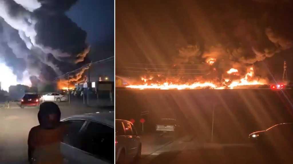 Video: Kebakaran Dahsyat Landa Pabrik Plastik Terbesar di Amerika