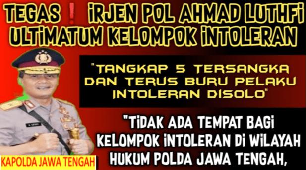 5 Orang Pelaku Pengeroyokan Habib Umar Solo Ditangkap, Kapolda Jateng Tegas Sikat Kelompok Intoleran