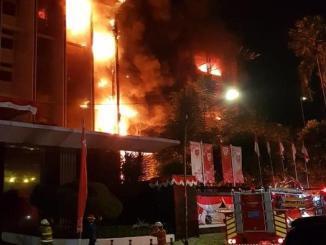 Gedung Utama Kejagung Terbakar