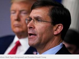 Menhan AS Mundur di Tengah Ketegangan dengan Trump