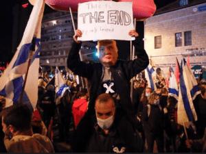 Ribuan Demonstran Israel Turun ke Jalan Tuntut Netanyahu Mundur