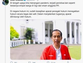 Presiden Jokowi Angkat Bicara Soal Penembakan 6 Anggota FPI