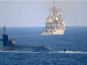 Video Detik-detik Kapal Selam Nuklir AS Melintasi Selat Hormuz