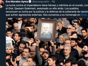 Evo Morales: Soleimani Pahlawan Perang Lawan Imperialisme