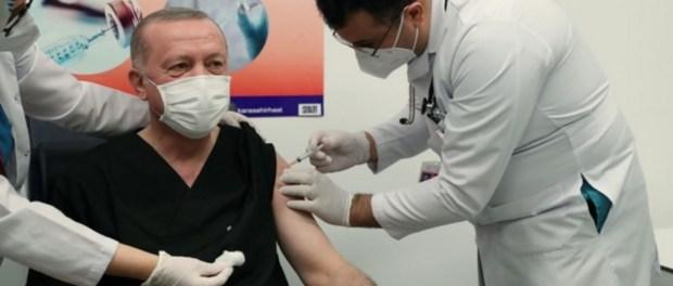 Presiden Turki Disuntik Dosis Pertama Vaksin China