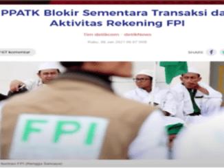 Blak-balakan, PPATK Ada Transfer Lintas Negara ke Rekening FPI