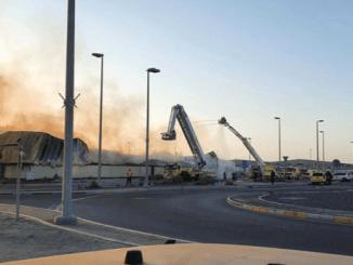 Terjadi Kebakaran Hebat di Pelabuhan Abu Dhabi