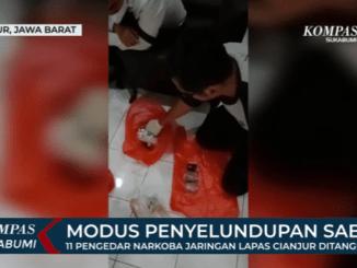 Polisi Bongkar Modus Penyelundupan Sabu di Lapas Cianjur