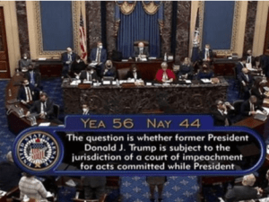 Mayoritas Senat AS Setuju 'Sidang Pemakzulan Trump' Konstitusional