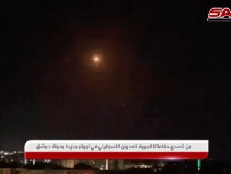 Pertahanan Udara Suriah Rontokkan Rudal-rudal Israel yang Serang Damaskus