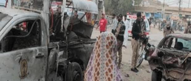 Video Ledakan Bom Sepeda Motor di Karachi, 1 Orang Tewas