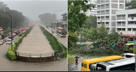Singapura Dilanda Banjir Bandang Dahsyat