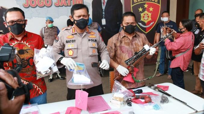Guru SMP Asal Malang Produsen Senpi Ilegal Diamankan Polisi