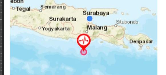 Gempa Bumi Hampir Merata Guncang Wilayah Jatim