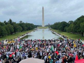 Ibukota Amerika Serikat Diguncang Demo Dukung Palestina