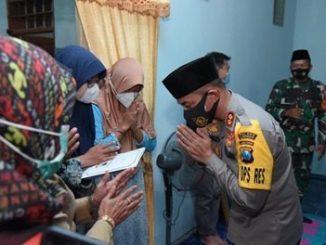 Serempak, 11 Polres Jajaran di Polda Jatim Anjangsana Keluarga Korban KRI Nanggala