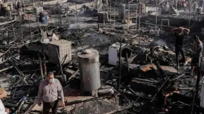 Kamp Pengungsi Yazidi Ludes Dilalap Api Setelah 7 Tahun Genosida