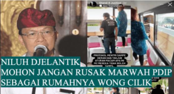PDIP Bali Korbankan Partai untuk Bela Koster Terkait Kasus Diskriminasi MC Wanita