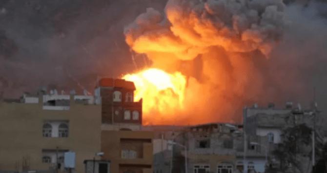 Saudi Bombardir Yaman Pasca Dronenya Ditembak Jatuh