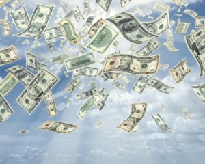 Ahora el dinero anda por las nubes y no es tan fácil alcanzarlo.
