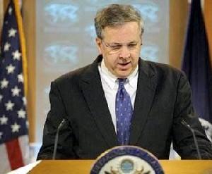 Ian Kelly, vocero del Departamento de Estado, dijo en conferencia de prensa, quién diablos vota a favor del bloqueo.