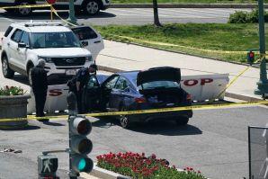 Conductor lanza su auto contra barricada del Capitolio en Washington