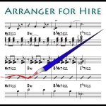 Splash logo for Arranger For Hire Music Arranging and Transcription Services