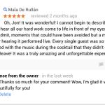 Customer Review – String Quartet