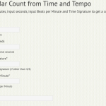 Get Bar count from Time and Tempo