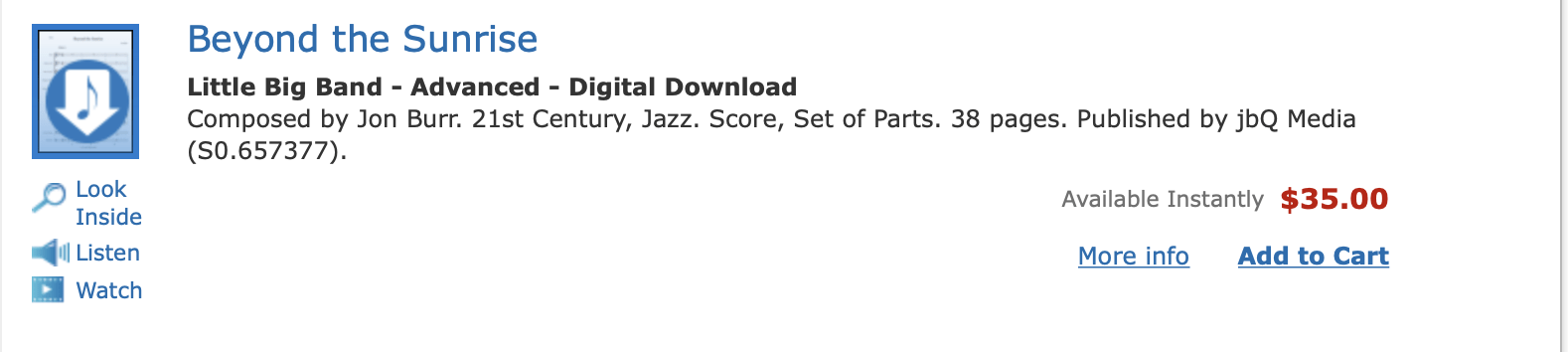 Beyond the Sunrise on Sheet Music Plus