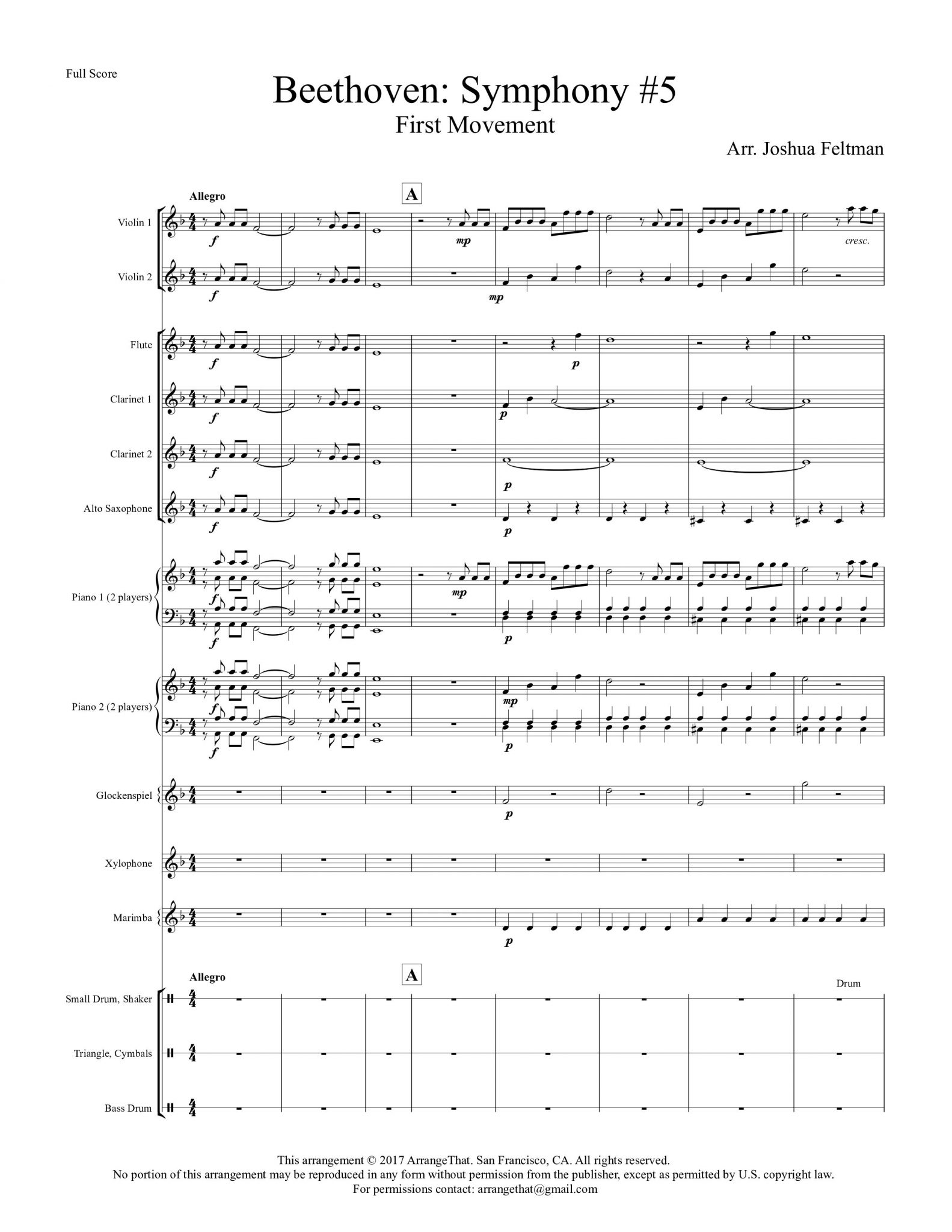 5Th Symphony beethoven: symphony #5, first movement