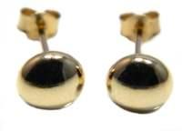 5mm Bouton Stud Earring  9ct Gold | eBay