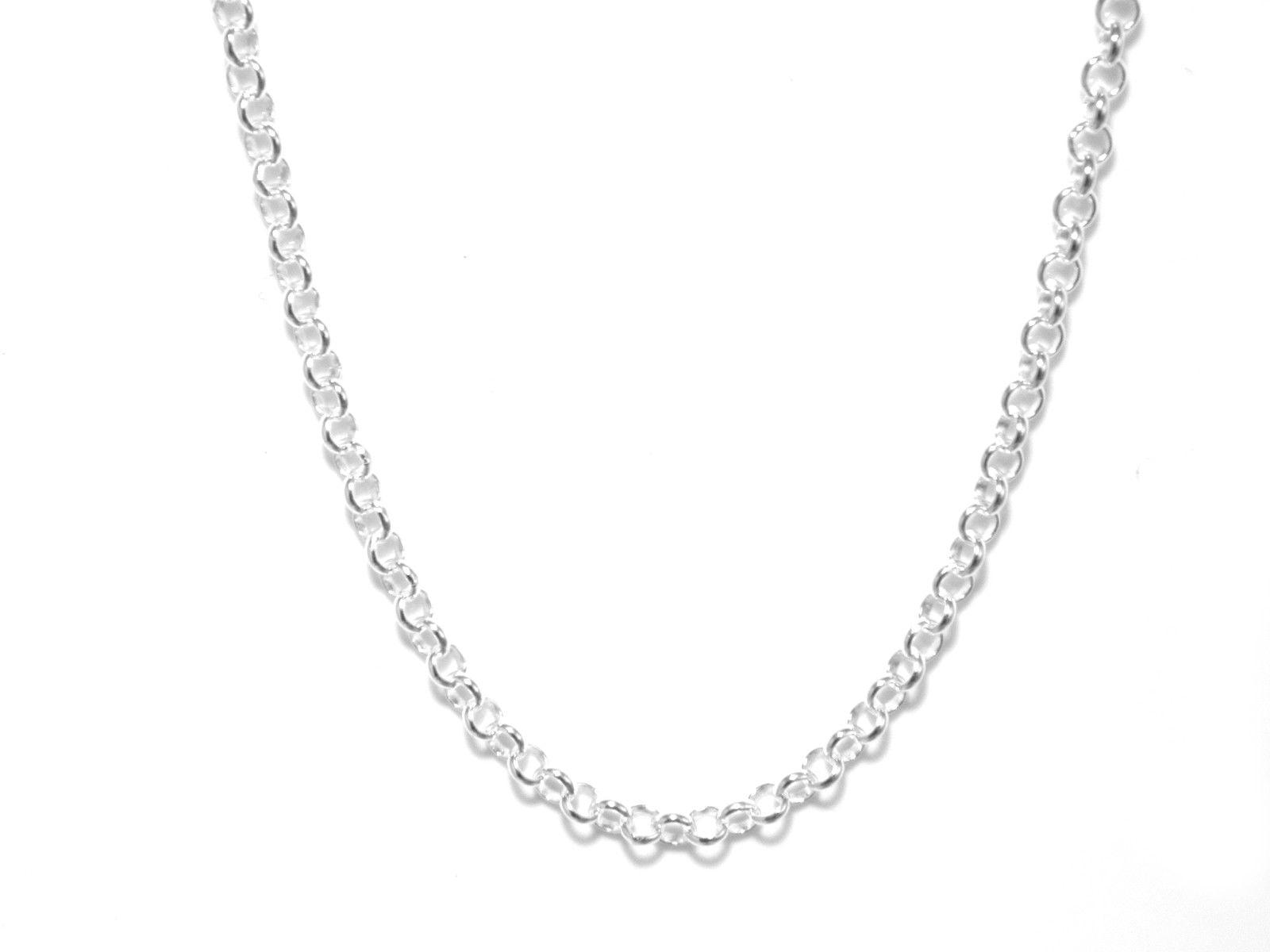 18 Inch Chain 2mm Gauge Belcher Style In Sterling Silver