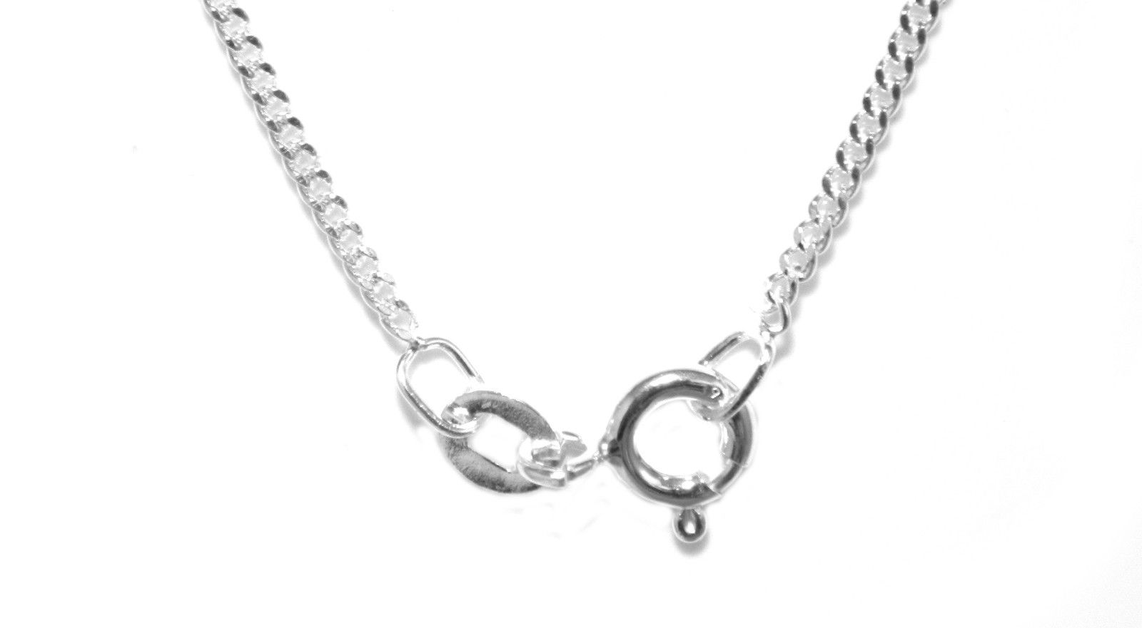 20 Inch Chain 2mm Gauge Curb Style In Sterling Silver