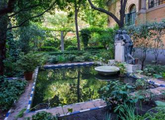 Fuente en el jardín del Museo Sorolla