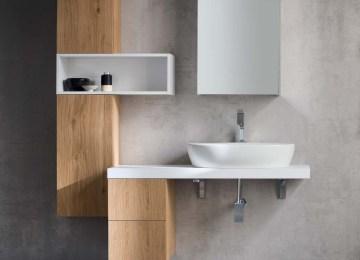 Mobili bagno lavabo mobile bagno sospeso in ecomalta cosmo arredo