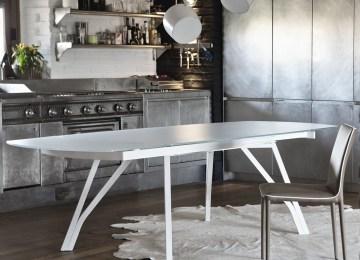 Tavoli Cucina Vetro | Tavolo Moderno Da Cucina Allungabile In Vetro ...