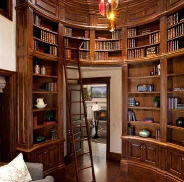 Librerie curve legno