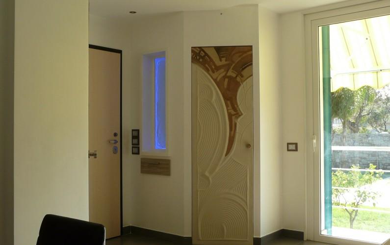 Forme artistiche e illuminzione Led per soluzioni di