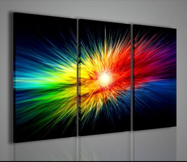 Quadri ModerniQuadri AstrattiExplosion of Color  Arredamento moderno Quadri moderni su tela