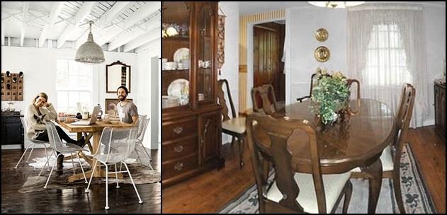 Le foto prima e dopo il restauro in stile shabby chic - Sala da pranzo shabby ...