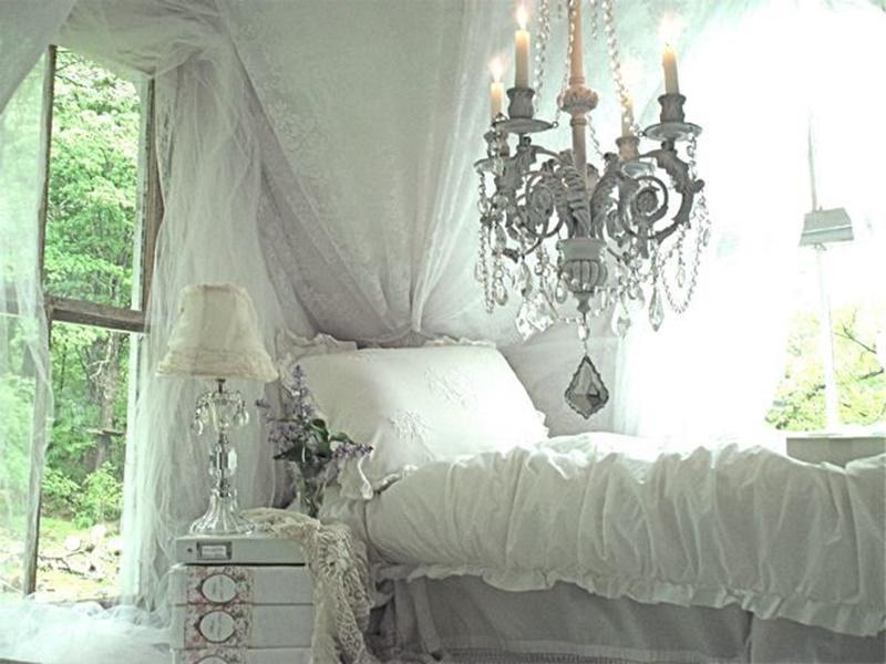 Pizzo E Tulle: Idee Romantiche Per Una Casa Shabby ( FOTO